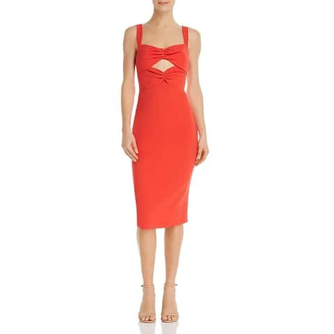 Likely Womens Terry Cocktail Dress Cut-Out Midi