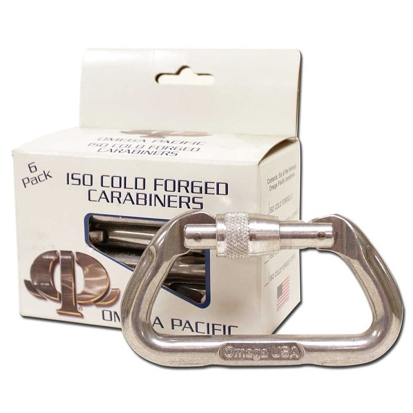 Omega Pacific Standard D Screw-Lok Carabiner 6 Pack