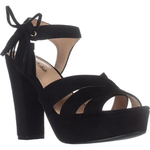 Seven Dials Naomi Ankle-Strap Platform Sandals, Black