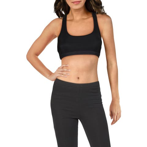 Koral Womens Posture Sports Bra Low Support Fitness - Black Baroque - S