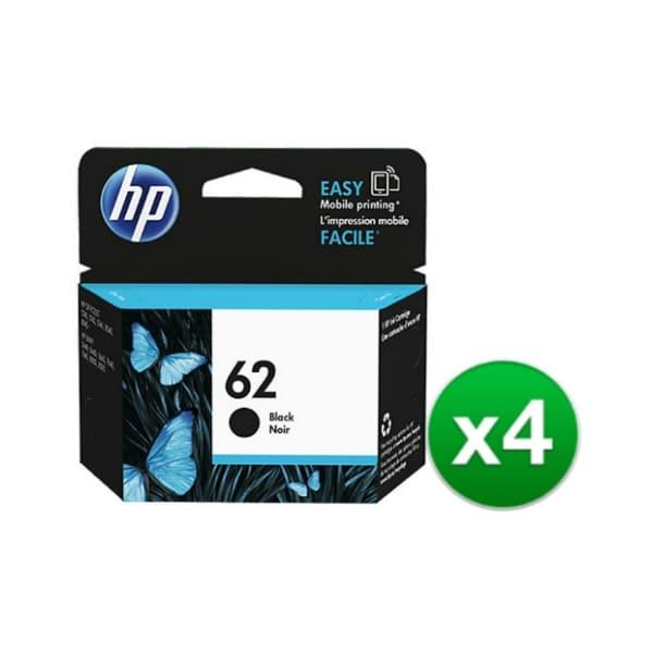 HP 62 Black Original Ink Cartridge (C2P04AN) (4-Pack)