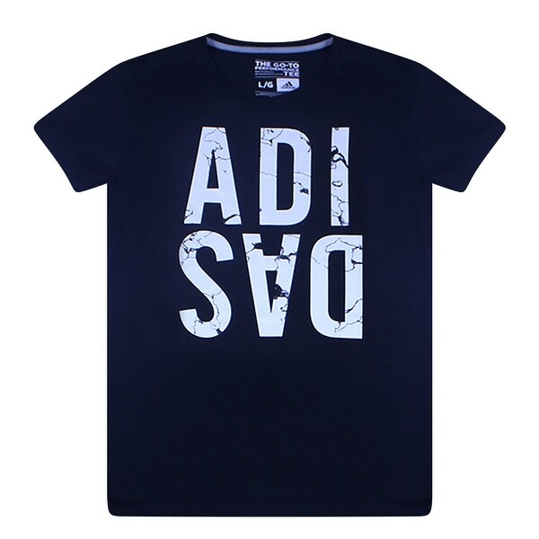 Shop Adidas Women s Graphic Marble Logo Black T-Shirt White Performance Logo  - Free Shipping On Orders Over  45 - Overstock.com - 17066958 673cd3cd5