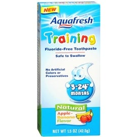Aquafresh Training Fluoride-Free Toothpaste Natural Apple-Banana Flavor 1.50 oz