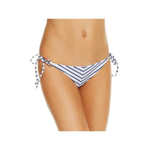 Splendid Womens Striped Side Tie Swim Bottom Separates