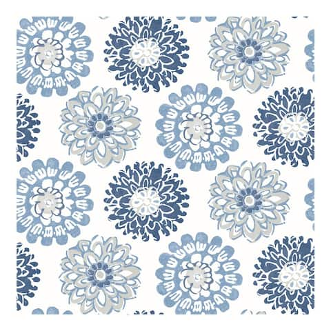 Sunkissed Blue Floral Wallpaper - 20.5 x 396 x 0.025
