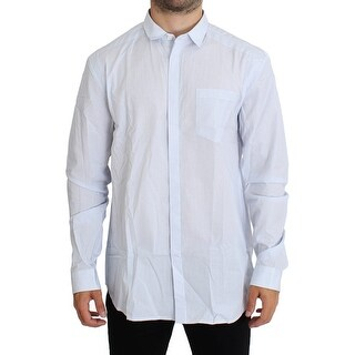 Balmain Balmain Blue Checkered Cotton Casual Shirt