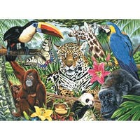 "Paint By Number Kit Artist Canvas Series 11""X14""-Zoo Montage"