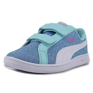 Puma Smash Glitz Glamm V PS Youth Synthetic Blue Fashion Sneakers
