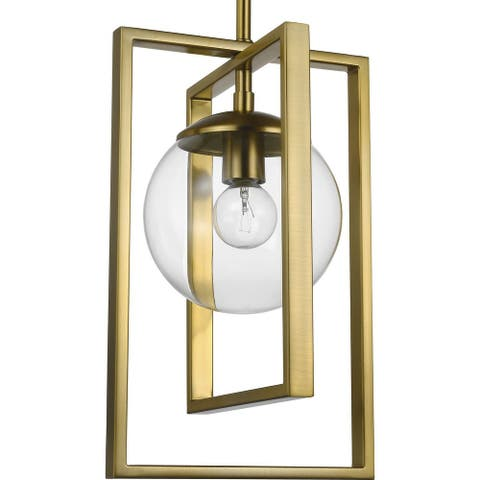 """Atwell Collection Brushed Bronze One-Light Pendant - 11.500"""" x 16.000"""" x 10.500"""""""