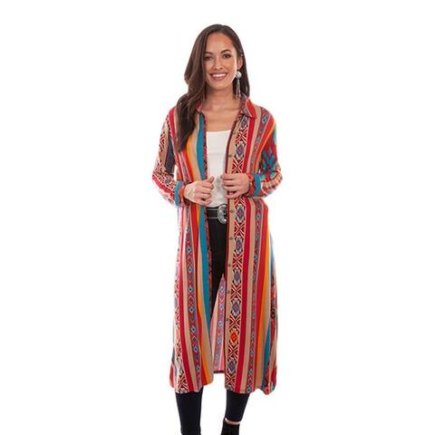 Scully Western Cardigan Womens Aztec Button Duster Serape