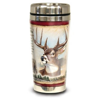 American Expedition Wildlife Steel Travel Mug - Whitetail - STMG-102