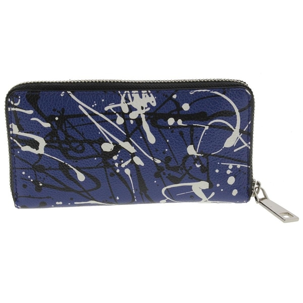 Marc Jacobs Womens Splatter Paint Continental Clutch Wallet Leather Zip Around - o/s