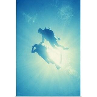 """Scuba diving"" Poster Print"