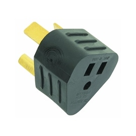 Shop Camco Power Grip Electrical Adapters 30 A Male To 15 A Female 125 V 1875 Watt Overstock 11827356