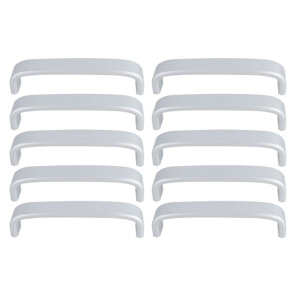 """Cabinet Handle Pull Space Aluminum 5"""" Hole Center for Furniture Door Cabinets Closet Wardrobe 10pcs Silver Tone"""