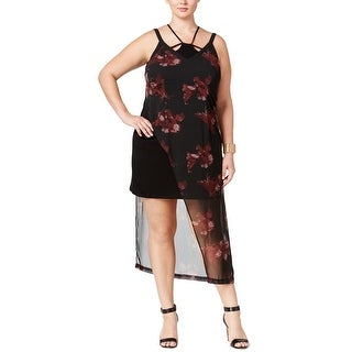 MBLM By Tess Holliday Womens Plus Party Dress Floral Asymmetric