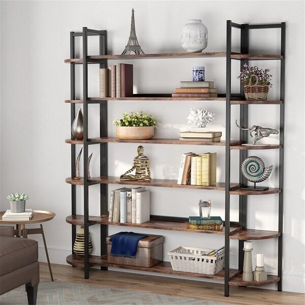 Triple Wide 6-Tier Bookshelves BookcaseDisplay Shelves. Opens flyout.