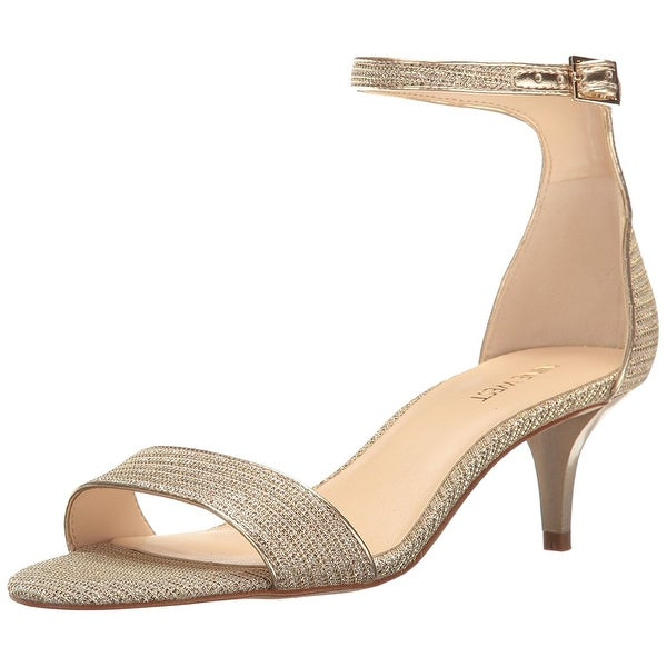 Nine West Womens Leisa Leather Open Toe Formal Ankle Strap Sandals