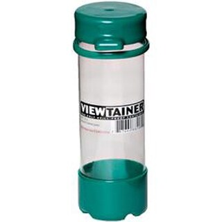 """Green - Viewtainer Tethered Cap Storage Container 2""""X6"""""""