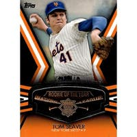 Signed Seaver Tom New York Mets Tom Seaver 2013 Topps Commemorative Rookie of the Year Trophy Unsig
