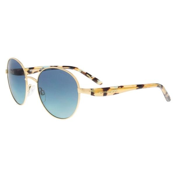45a54995fafa Michael Kors MK1007 10934S Sadie III Gold/Havana Round Sunglasses - 52-19-