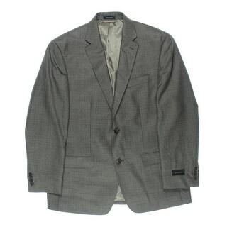 Sean John Mens Step Weave Lined Two-Button Blazer