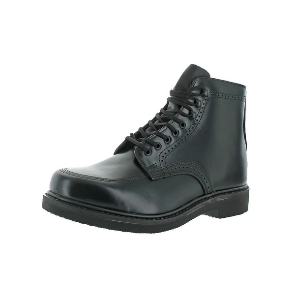 Rubicon Mens Dress Boots Leather Brogue - 11 extra wide (e+, ww)