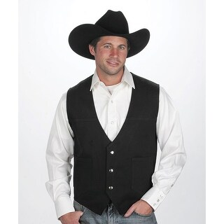 Men's Black Cotton Denim Western Vest (4 options available)