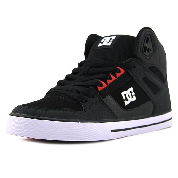 DC Shoes Spartan High WC Men Round Toe Leather Black Skate Shoe