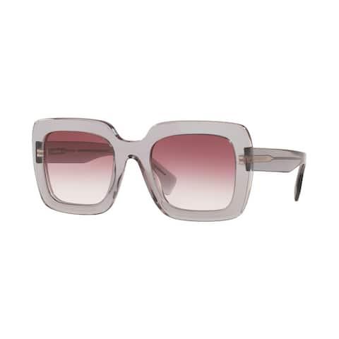 Burberry BE4284F 30288H 52 Transparent Grey Woman Square Sunglasses