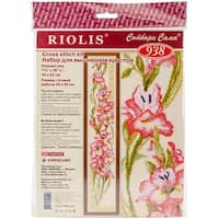 """Gladioli Counted Cross Stitch Kit-8""""X36.25"""" 15 Count"""