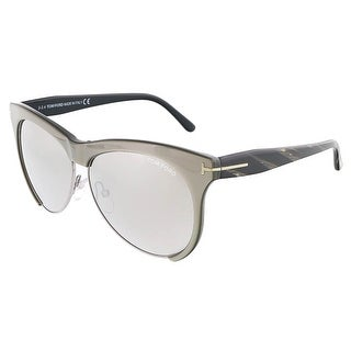 Tom Ford FT0365/S 38G LEONA Grey /Silver Clubmaster sunglasses