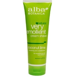 Alba Botanica Natural Very Emollient Cream Shave, Coconut Lime 8 oz