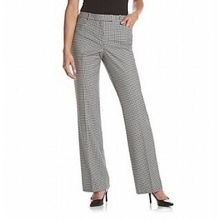 Tommy Hilfiger NEW Black Women's Size 10 Check Print Dress Pants