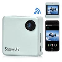Full HD 1080p WiFi Pocket Cam, 2-in-1 Camera + Camcorder, Control via Smartphone (Silver)