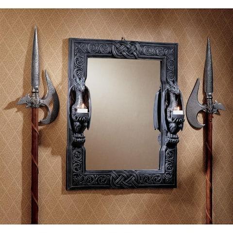 Design Toscano Dragons Thorne Twin Sentinel Dragons Mirror
