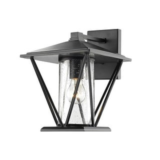 """Millennium Lighting 2522 1-Light 12-1/4"""" High Outdoor Wall Sconce with Glass Shade - N/A"""