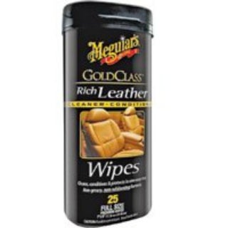 Meguiars G10900 Rich Leather Wipes, 25-Count