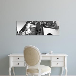 Easy Art Prints Panoramic Images's 'Neon signs on building, Nashville, Tennessee, USA' Premium Canvas Art