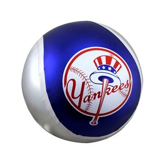14 Inch Diameter Yall Ball New York Yankees Inflatable Bouncy Ball - Multicolored
