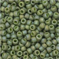 Toho Seed Beads, Round 8/0 Semi Glazed, 8 Gram Tube, Rainbow Honeydew