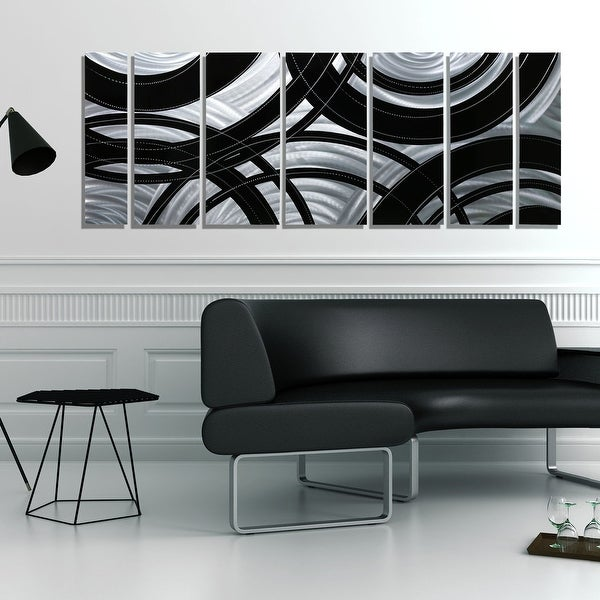 Statements2000 Black / Silver Contemporary Metal Wall Art Painting By Jon  Allen   Crossroads   Free Shipping Today   Overstock.com   19261666 Part 65