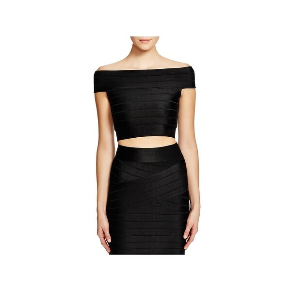 9c70da8be4d Shop French Connection Womens Crop Top Knit Textured - Free Shipping ...