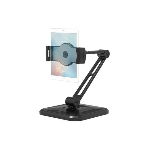 Monoprice Universal Tablet Desk Stand, 360° Rotation, 180° Tilt, Max. Weight 4.45 lbs. (2.02kg), For Wall Or Under A Cabinet