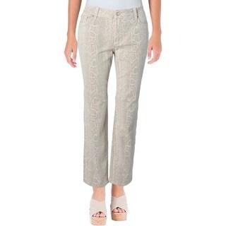 NYDJ Womens Petites Sherri Skinny Jeans Printed Stretch