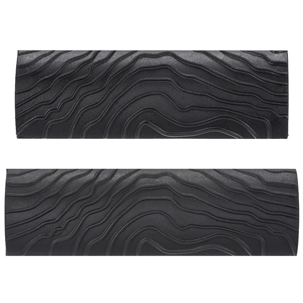 "Wood Graining Rubber Grain Tool Pattern Wall Art Painting DIY Black MS8 2Pcs - MS8-4+5"" 2in1 Set"