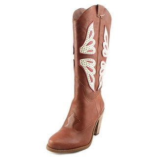 Jessica Simpson Caralee Women  Round Toe Leather  Western Boot