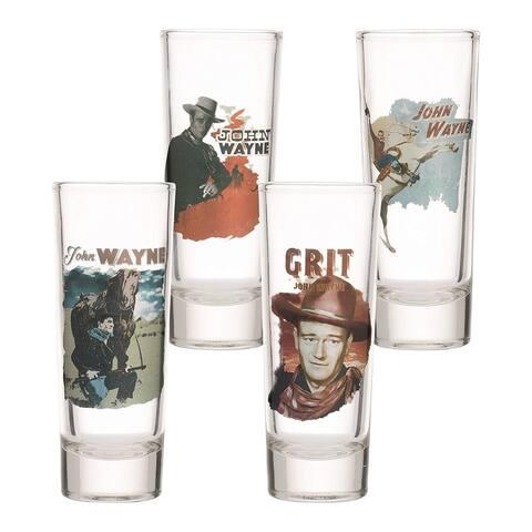 John Wayne 4 pc. Tall Glass Shooter Set