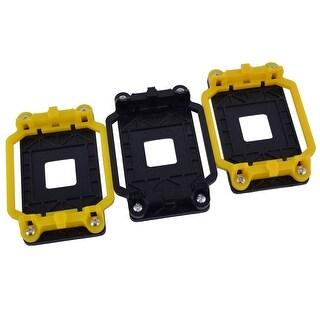 3pcs ADM AM2 AM3 FM1 FM2 FM2+ CPU Fan Retainer Bracket Base Black Yellow
