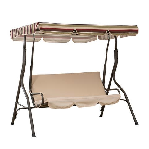 Sunjoy 3-Seater Swing with Tilt Canopy